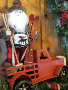 Santa Skiing Truck